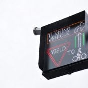 """Right-hook risk drops with flashing """"Yield to Bikes"""" sign on NE Couch"""
