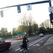 New bike signal north of Moda Center adds green time for southbound biking