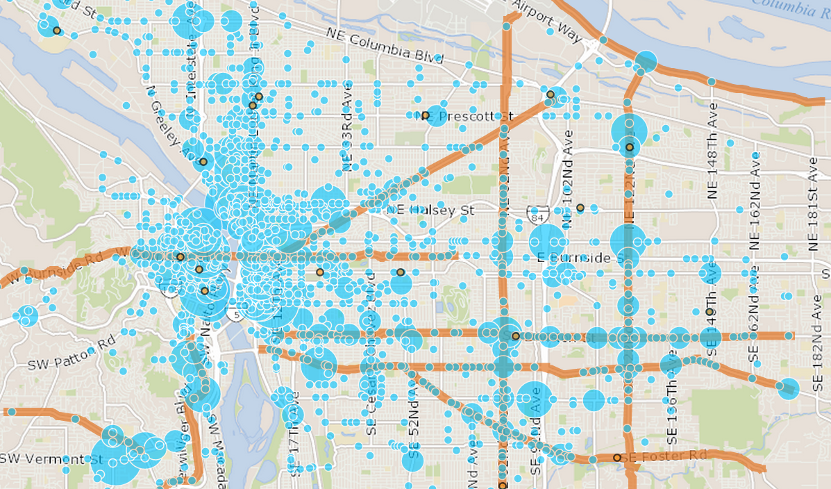 Portland Has Mapped Every Reported Traffic Injury From 2004 13