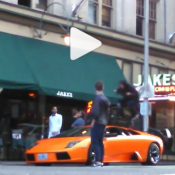 BMX rider rolls over Lamborghini in downtown Portland