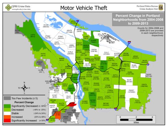 car theft neighborhood change