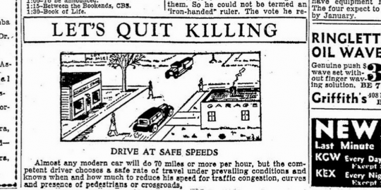 drive at safe speeds