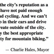 Mayor Hales wants to start 'ASAP' on $350,000 Off-Road Cycling Master Plan – UPDATED