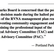 Parks Board demands answers about River View decision from Commissioners Fritz and Fish