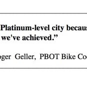 Transportation bureau defends 'Platinum' status