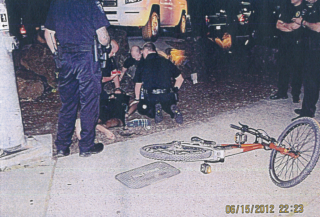 police photo with bike