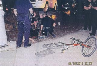 police photo with bike