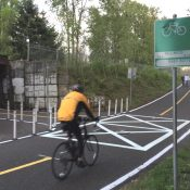 First look: New striping and safety features on Springwater at Oaks Bottom