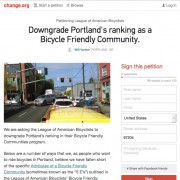 Petition launched to strip Portland of 'Platinum' bike-friendly status