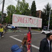 Protest on SE Powell slows traffic, draws big crowd