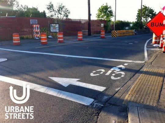 2015.05 Bike Detour ODOT Work Zone - Denver 1 - Boulanger