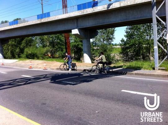 2015.05 Bike Detour ODOT Work Zone - Denver 4 - Lost NB Riders - Boulanger