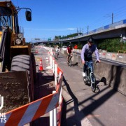 First Look: ODOT's temporary bikeway for N Denver Ave project