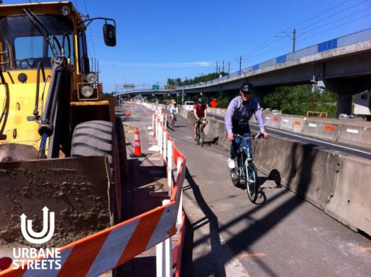 2015.05 Bike Detour ODOT Work Zone - Denver 6 - Boulanger