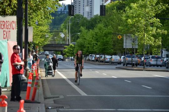bike+passing+stroller