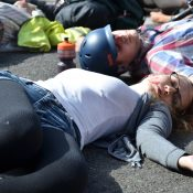 At die-in, ODOT says it's already doing its best to improve street safety