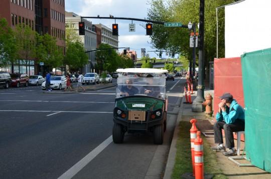 truck in bike lane