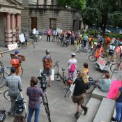 At City Hall rally, demonstrators demand action for safer streets