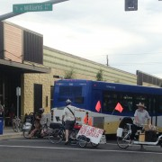 TriMet bus operator allegedly drives into people on Williams Ave, then flees – UPDATED