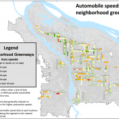Speeding is common on most neighborhood greenways in Portland, study finds