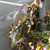 Six days after man dies crossing SE Chavez, his ghost bike memorial is mangled too (UPDATED)