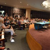 Large crowd at City-sponsored symposium learns evils of free parking