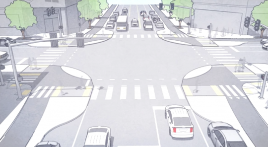 protected intersection