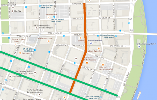 third avenue area map with bikeways