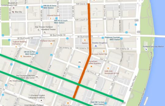 third avenue area map with bikeways