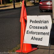 58 traffic stops in four hours at latest PBOT crosswalk enforcement action