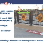 "Citing safety concerns, TriMet wants ""swing gates"" at inner southeast MAX crossings"