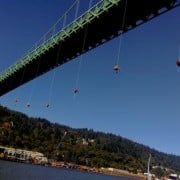 Police response to Greenpeace action closes south sidewalk of St Johns Bridge (updated)