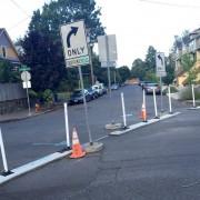 City settles on diagonal design for diverter on NE Rodney