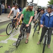 Here's what happened when Mayor Hales biked to work for the first time