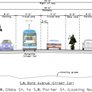 City looks for alternatives to door-zone bike lane on new street in South Waterfront