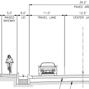 Vancouver plans its first raised bike lane