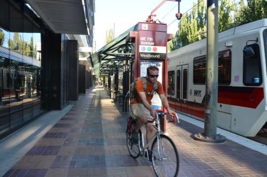 biking on max platform