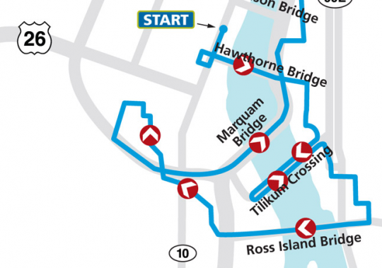 bridge pedal route