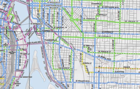 se portland bike plan