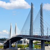 By the tens of thousands, Portlanders preview their new car-free bridge (photos)