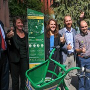 Portland celebrates bike share passage at City Hall press conference