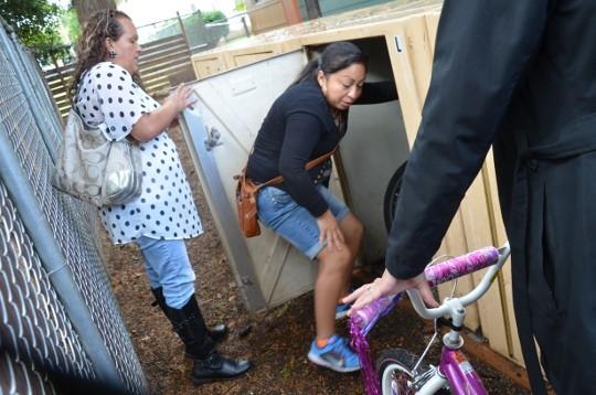 bike lockers open