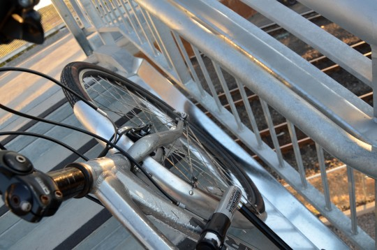 ped bridge bike gutter