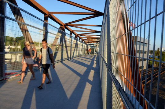 ped bridge path