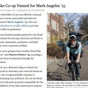Reed College renames Bike Co-Op for Mark Angeles
