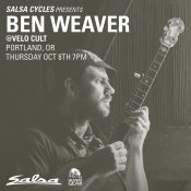 Bike riding musician and poet Ben Weaver coming to Velo Cult Thursday night