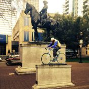 Art project will put Portland riders on a pedestal as climate change heroes