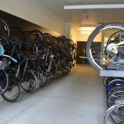 The new Lloyd apartments' bike parking is already full – maybe too full