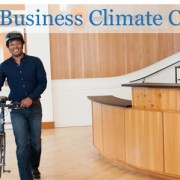 Mayor courts businesses as part of climate change push