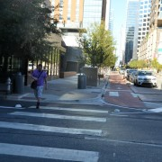 Postcard from Austin: curb extensions that don't block bikes